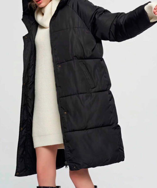 чистим женский пуховик куртку