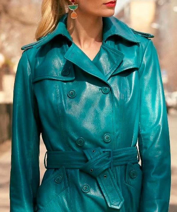 Химчистка женского кожаного пальто
