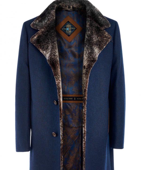 Химчистка мужского пальто с отделкой из натурального меха