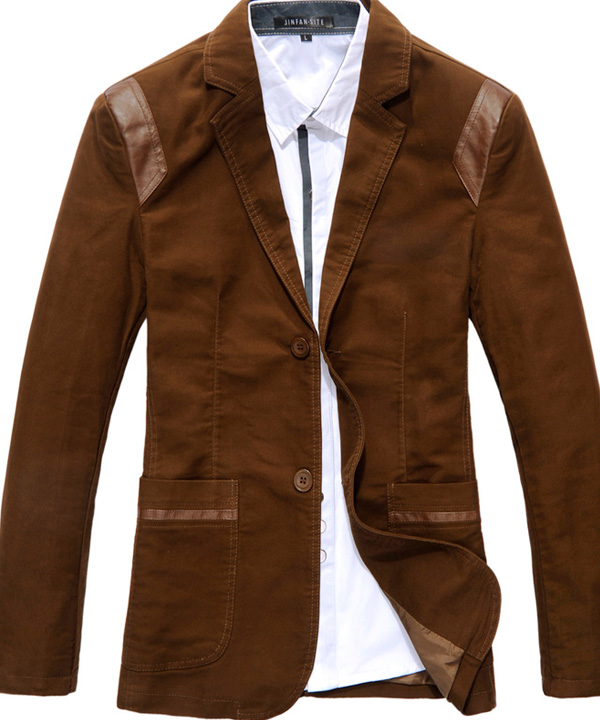 Чистка пиджака с отделкой кожей