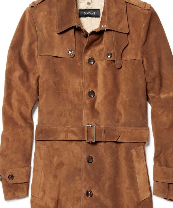 Чистка мужского замшевого пальто до 100 см