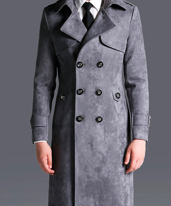Химчистка мужского замшевого пальто от 100 см