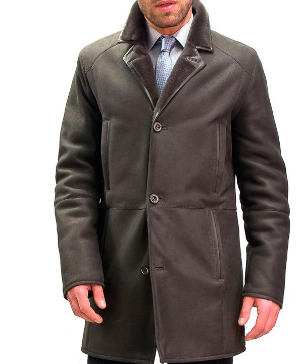 Чистка мужского пальто из нубука от 100 см