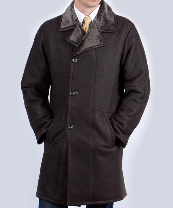 Химчистка мужского пальто из нубука от 100 см