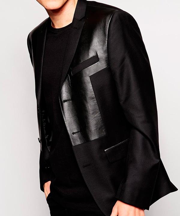 Химчистка пиджака с отделкой кожей