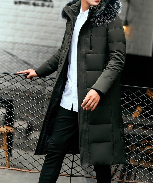Чистка мужского пуховика-пальто