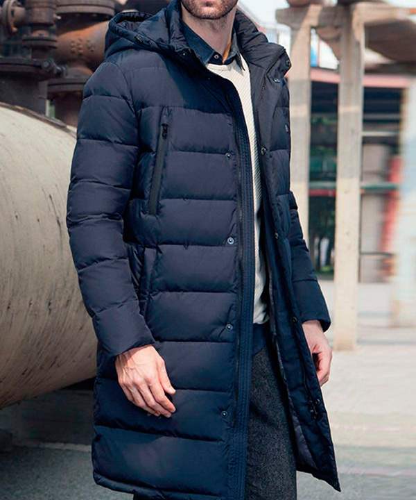Химчистка мужского пуховика-пальто